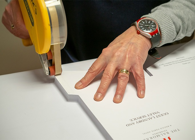Hand Finishing for quality